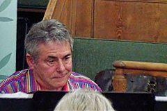 Peter Durrent at the piano