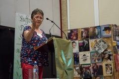 Florence Cox, Chair of SPS, winding up the festival