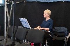Jill Garrett played piano throughout the day