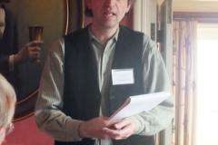 Kenneth Stevens, Adjudicator, announces the winners