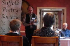 Kenneth Stevens, Adjudicator, gives a reading