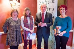 The winners, Pam Job, Sara Impey and Florence Cox