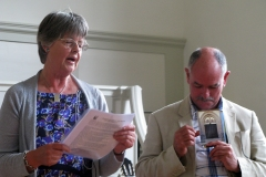 Anne Boileau and David Simpson reading in German and English